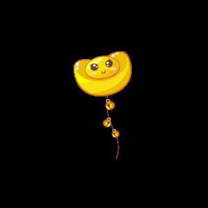 奥比岛笑脸金元宝气球超级绝版图鉴